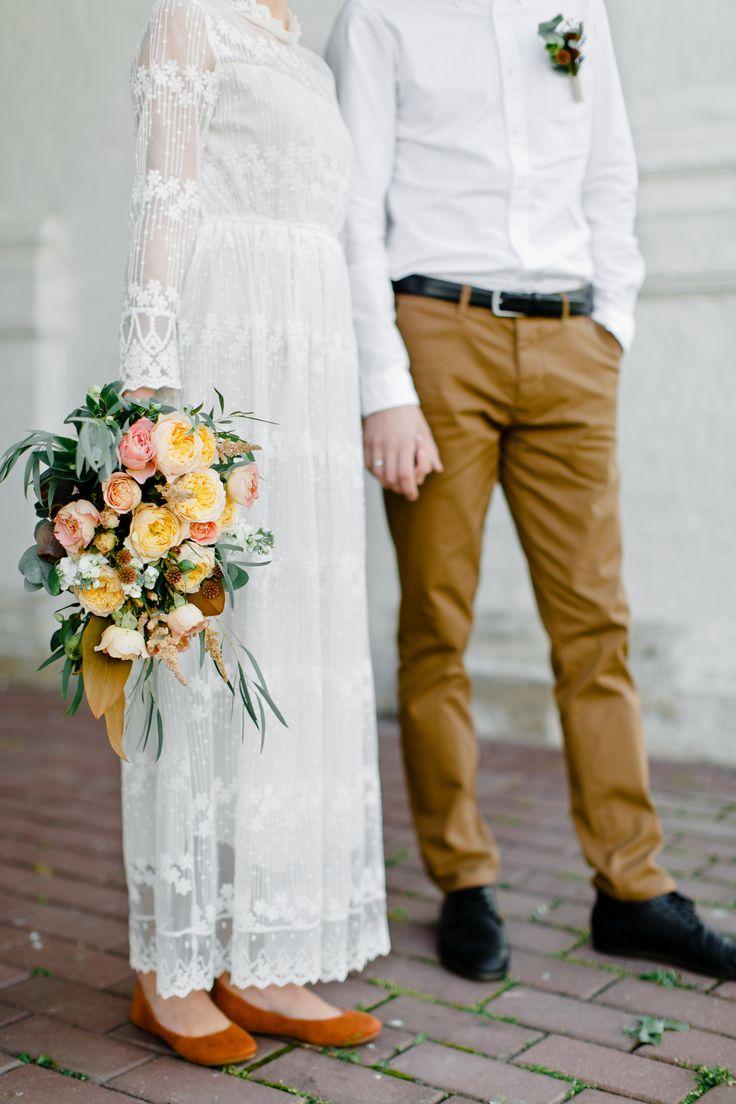 photo: Malvina Frolova #bridalbouquet #bouquet #ostinroses #roses #yellowrose #magnolia #gardenrose