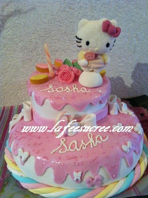 Cake Hello Kitty  Gâteau Hello Kitty