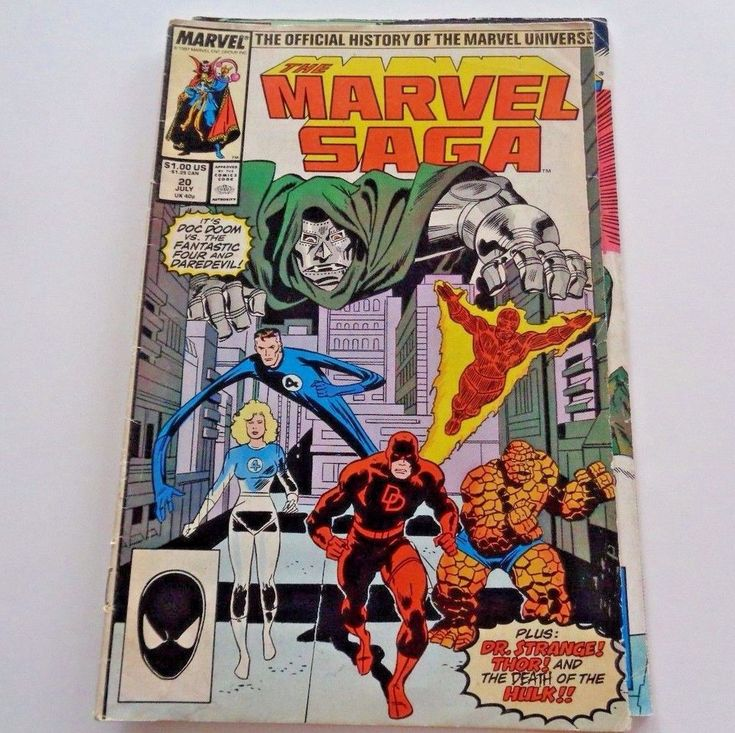DC Comics The Marvel Saga #20 July 1987