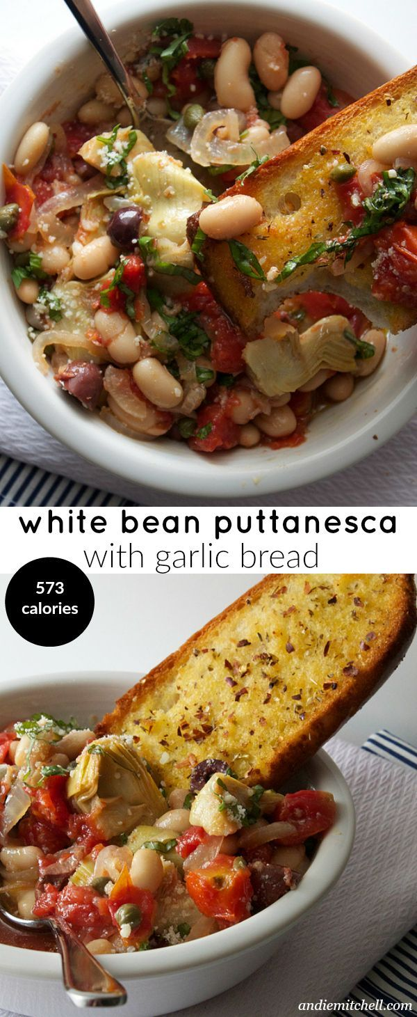 White Bean Puttanesca, delicious nutritious and hearty meal #HealthyEatingr #CleanEating #ShermanFinancialGroup