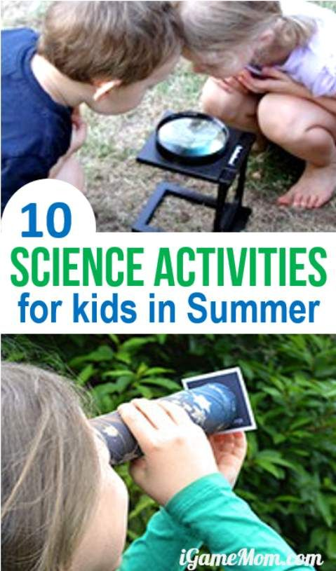 Science activities that are perfect for kids to explore in summer, with additional learning resource recommendations on topics like insects, plants, star.