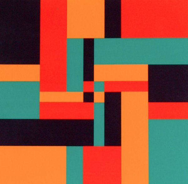 Carlo Vivarelli (Swiss, born after 1919-died after 1986) Untitled, 1964, screenprint in colors, numbered, signed and dated along lower margin