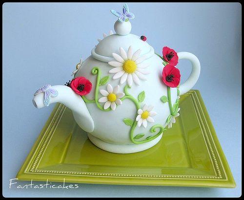 "how to make a teapot cake | Torta teiera / Teapot cake (side view)"" by fantasticakes"