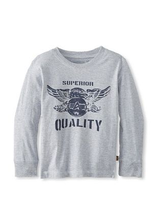 83% OFF Alpha Industries Boy's Superior Longsleeve Tee (Heather Gray)