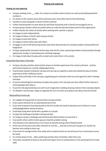 essay comments bank Teachers report assistant comment bank these comments are intended to be used with version 50 and above of the report assistant - get a copy of this totally free report writing software: teachers report assistant.