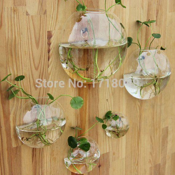 5pcs/set diy muur planters, wand aquarium lucht terrarium plant geschikt achtergrond muur ornament home decoration