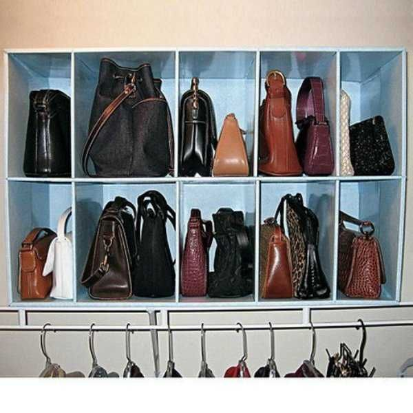 33 Storage Ideas To Organize Your Closet And Decorate With Handbags And  Purses Part 54