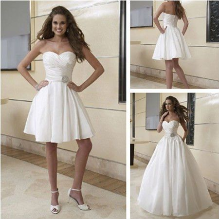 Unique tons of dresses at this site WD Style Detachable Skirt Two in One Wedding Dress