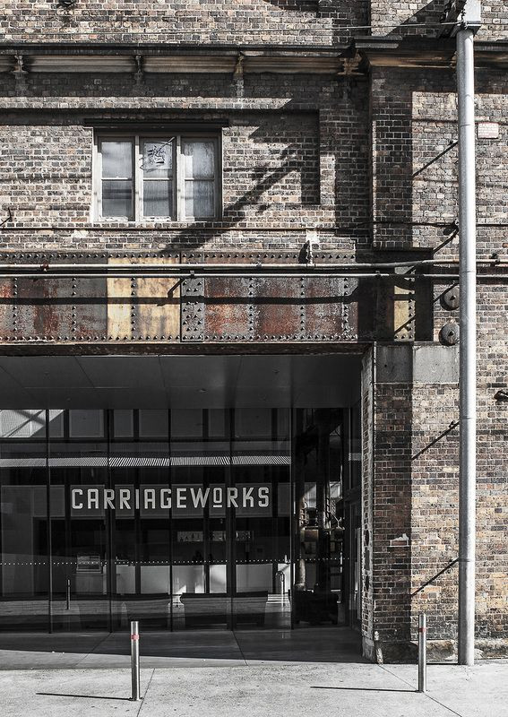 Carriageworks, contemporary art centre, entrance, entry, brick building, old factory, sydney, redfern, eveleigh, architecture photography, photo, photography, architecture, building, limited edition, print, fine art, archival print, online art, buy print