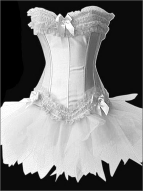 Burlesque Corset & tutu /skirt Fancy dress outfit Moulin Rouge Can Can outfit #Unbranded #LaceUpBack #Glamour