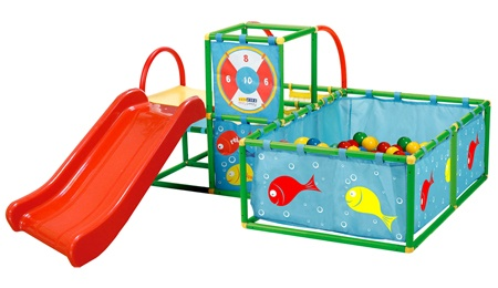 Jungle gym for indoors or outdoors. $200. Imaging their little faces when they unwrap this gift!