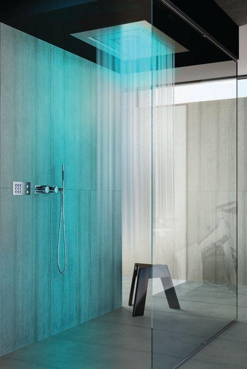 Casalgrande Padana at Cersaie 2013 #bathroom #shower #blue @Casalgrande Padana