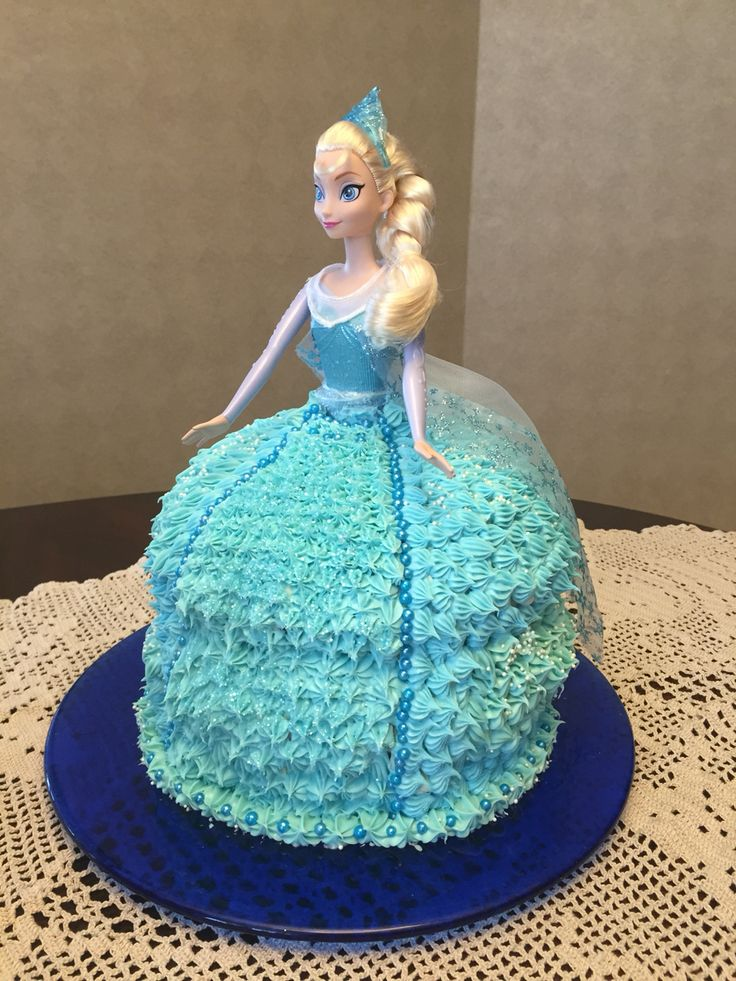 Elsa ( Disney's Frozen movie) Bday cake for 5 years old girl by Sabrina