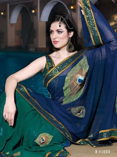 Pretty as a peacock saree