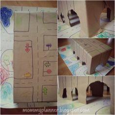 Riciclare il #cartone: la pista per le macchinine! ~ Una famiglia expat in Canada #mommyplanner http://mommyplanner.blogspot.ca/2013/04/riciclare-il-cartone-la-pista-per-le.html #cardboard ideas