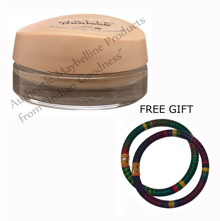 Maybelline Dream Matte Mousse Foundation Nude Light 4 18 GM - With FREE GIFT (Pair of Multicolor Bangles) and FREE SHIPPING * This is an Amazon Affiliate link. To view further for this item, visit the image link.