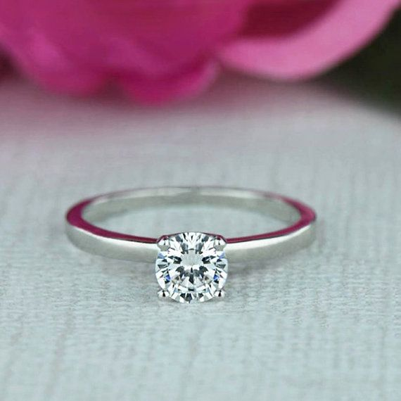 1/2 ct Promise Ring Engagement Ring Classic Solitaire Ring