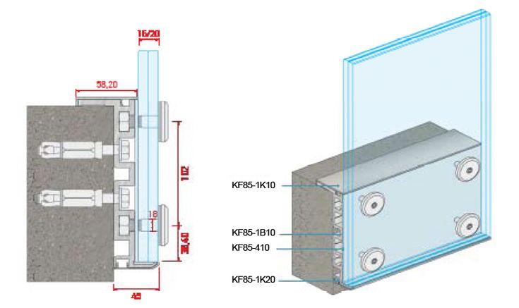 external glass balustrading balcony system detail. Black Bedroom Furniture Sets. Home Design Ideas