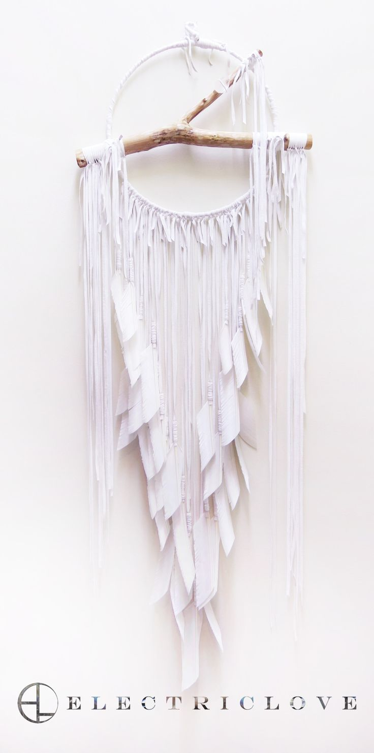 Lemuria Series 14″ Lemuria Sea in Snow Quartz White with Natural White Feathers,Hand Carved Branch & Quartz Crystal For inquiries please email info@electriclovenyc.com