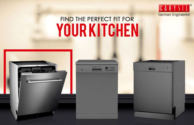 Choose from an exquisite range of Dishwashers from Carysil! #CarysilKitchen #Dishwashers #Kitchen