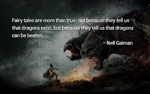 Quote about fairy tales by Neil Gaiman