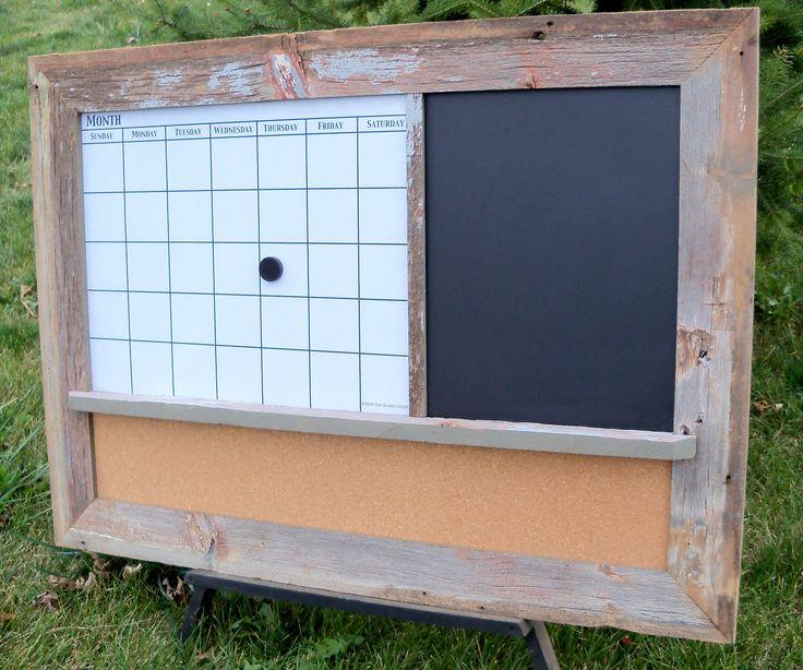Custom Made Barnwood Framed Message Center With