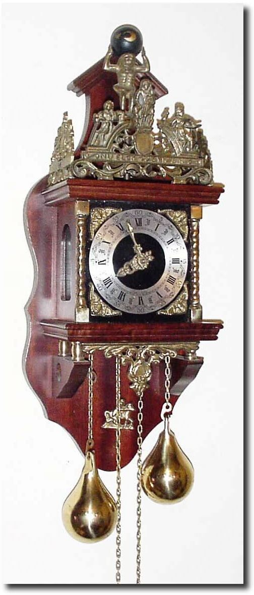 West German Antique Clocks | Antique German or Germany Wall WagOnWall Clock