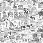 Newspaper Wallpaper, Black