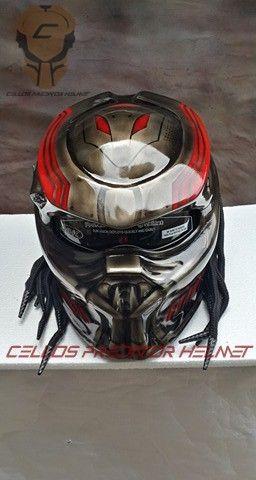 CUSTOM PREDATOR HELMET MOTORCYCLE DOT APPROVED | fanie2306_Helmets - on ArtFire