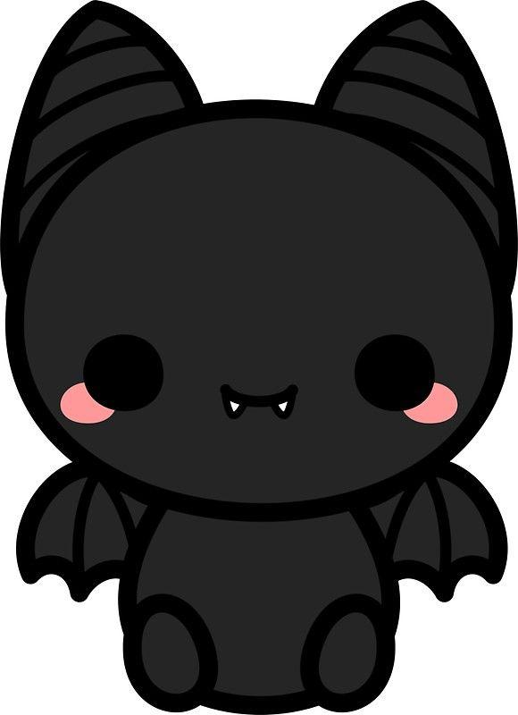 Bat kawaii. Cute spooky sticker by
