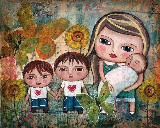 Katherine and her boys by Katherine McDonald