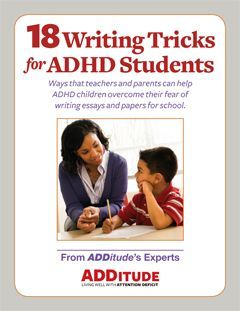 18 Writing Tricks for ADHD Students by Chris Zeigler Dendy - Solutions and accommodations for the classroom and at home PLUS Tech helpers. (Includes links to 5 more education based articles)