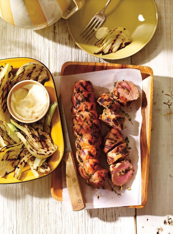 Recette de filets de porc farcis aux olives et au citron confit | Ricardo