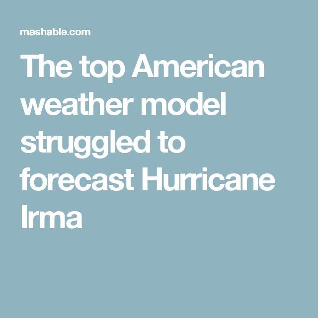 The top American weather model struggled to forecast Hurricane Irma