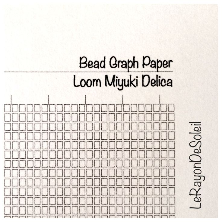 graph paper loom miyuki delica beads diy jewelry design coloring page sheet instant download. Black Bedroom Furniture Sets. Home Design Ideas