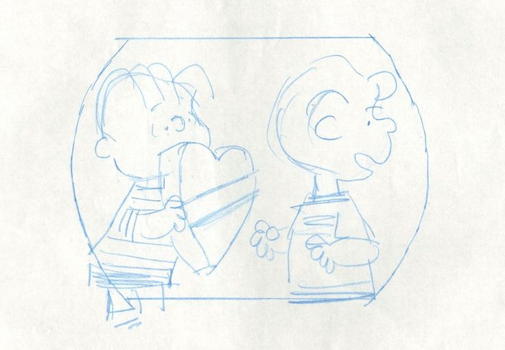Linus Schroeder Peanuts Original Animation Cell Layout drawing 1975 2*