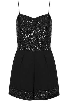 **Sequin Playsuit by TFNC - Dresses  - Clothing
