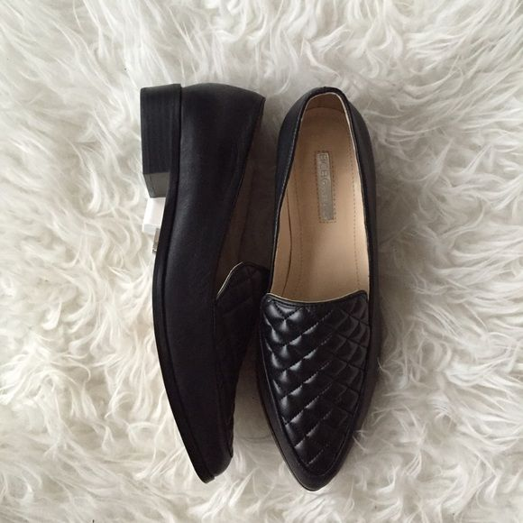 Steven Madden Quilted Loafers ... Never Worn !! Black faux leather pointed  toe