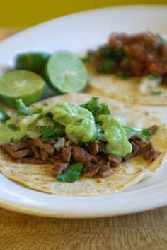 Tacos de Bistek   Authentic Mexican Recipe - In Mexico, you'll find these tasty tacos at street stands everywhere. A squirt of fresh lime juice is the key to authentic Mexican flavor.