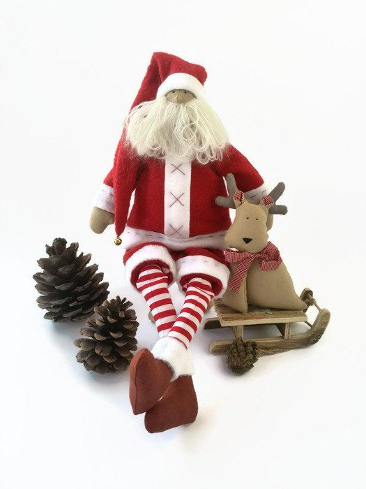 Hey, I found this really awesome Etsy listing at https://www.etsy.com/listing/245271362/christmas-toy-santa-claus-with-deer-doll