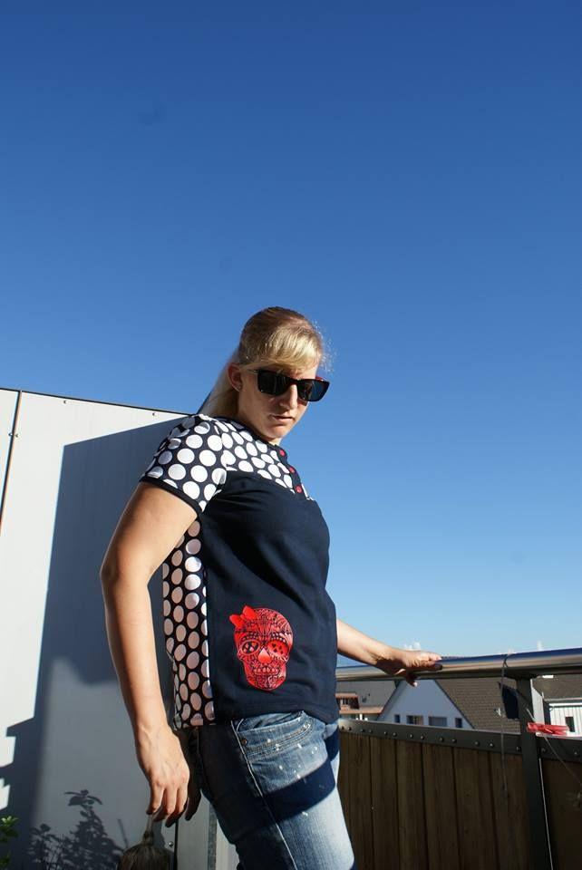"""Shirt """"Marla"""" genäht von Tina näit: http://www.kreativlaborberlin.de/schnittmuster/shirt-marla/"""