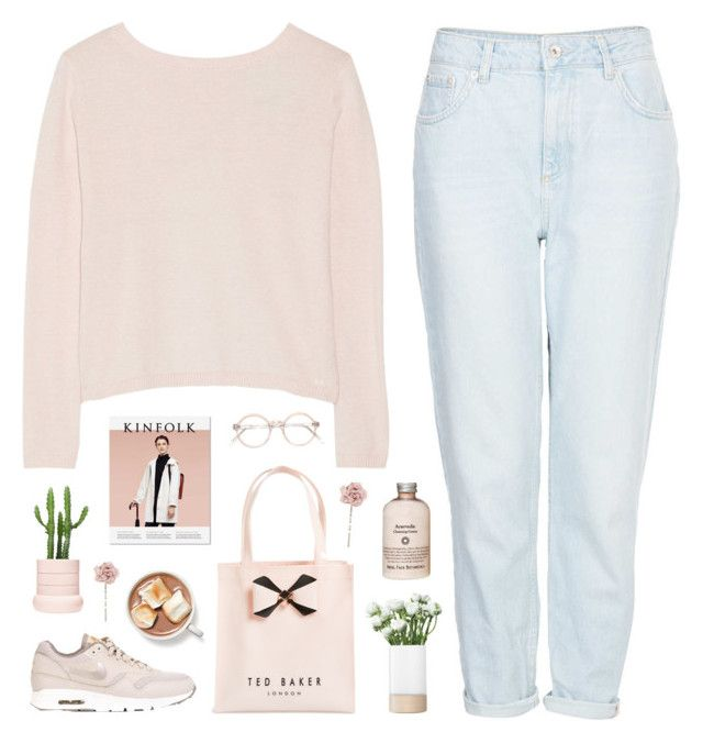 """""""let it fall and hit the ground"""" by intanology ❤ liked on Polyvore featuring Banjo & Matilda, Topshop, NIKE, Ted Baker, Accessorize, LSA International and IWearPinkFor"""