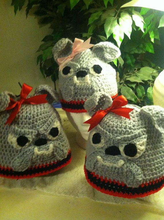 Bulldog Hats by DebraDoodles on Etsy, $20.00
