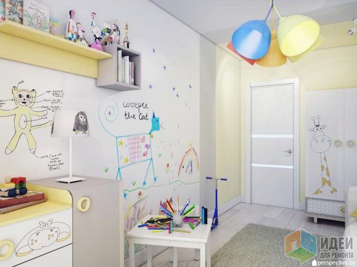 Светлая комната для ребенка, дизайн детской малыша