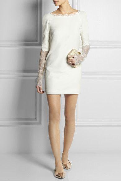 Rime Arodaky   Mini-robe en crêpe / Mariage à la mairie