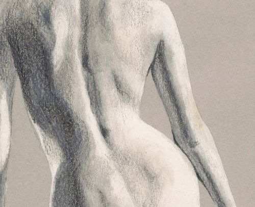 ORIGINAL-DRAWING-Female-nude-19-by-Milena-Gawlik-pencils-on-grey-paper