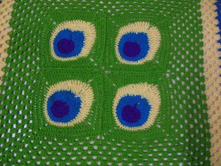 Sweet Nothings Crochet: MICQ BLANKET # 7 - MY PEACOCK SQUARE