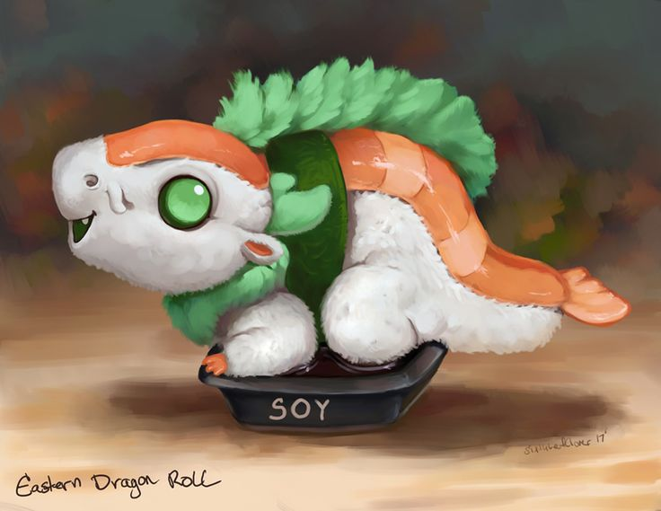 Eastern Dragon Roll Soy Sauce by The-SixthLeafClover.deviantart.com on @DeviantArt
