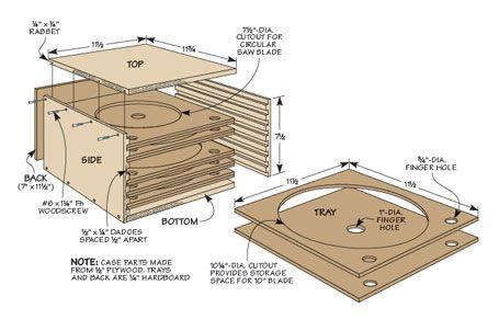 Innovative Saw Blade Storage Box Plan  WoodArchivist