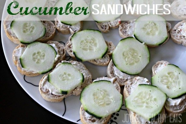 An easy Cucumber Sandwich appetizer you will love! Only 4 ingredients... by Joyful Healthy Eats